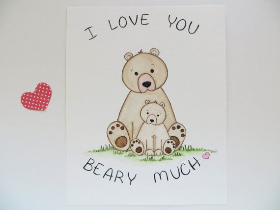 Love You BEARY Much by Carina on Etsy