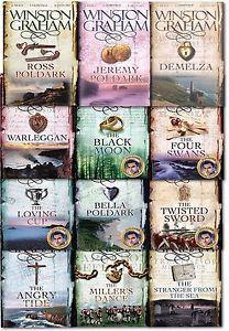 Winston Graham Poldark Series 12 Books Collection Set A Novel of Cornwall PB US | eBay