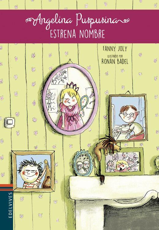 Ronan Badel ilustra esta historia Fanny Joly de sobre Ángela, una niña a la que sus hermanos ponen el mote de Angelina Purpurina.
