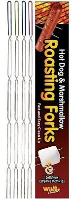 The Best LONG Camping Forks Campfire Hot Dog Marshmallow Roasting Sticks 8 Pack
