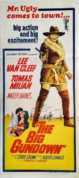 The Big Gundown (La resa dei conti) original 1966 Australian/NZ Daybill western movie poster. staring Lee Van Cleef and Tomas Milian. Available for purchase from our website.