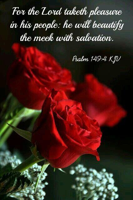 Psalm 149:4 KJV