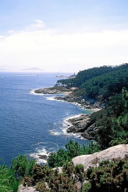 Cíes - Vista del Faro do Peito ou Monteagudo  Galicia  Spain