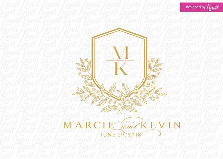 luxury wedding monogram- wedding logo-wedding crest-custom wedding monogram-signo-monograma-monograma de la boda-signo de la boda- by Linvit on Etsy
