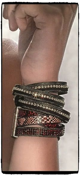 Powerful, dramatic and inspiring!!!  Leather triple wrap bracelets!!! The new winter mania in Italy!! Tip: This stylish wrap around bracelet is the hottest  accessory for both day and night.  Join a world of #uniquness #aesthetics & #style #braccialetticoncepts #triple #wrap #italian #bracelets #stylish #winteressentials #winter2015