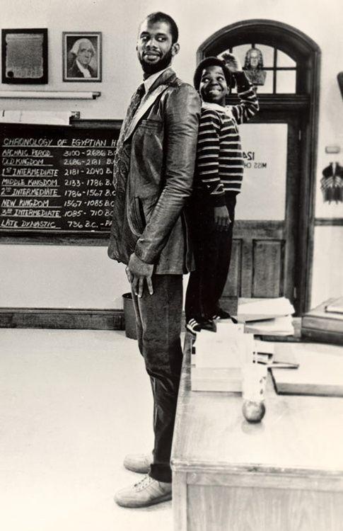 Gary Coleman with Kareem Abdul-Jabbar, 1982