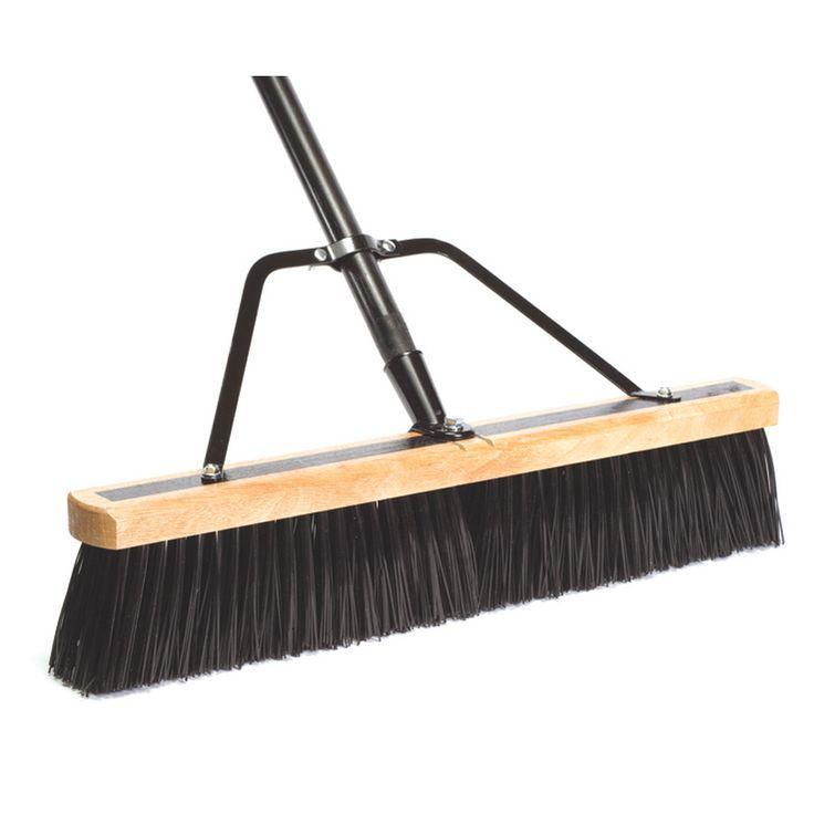"Jensen DQB Industries 09944 24"" Push Broom With Handle & Brace"