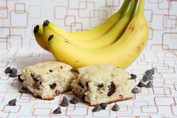 A moist, easy-to-make banana chocolate chip cake with those leftover bananas.