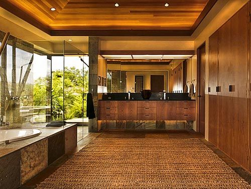 Hawaiian style bathrooms pinterest house interiors for Hawaiian style architecture