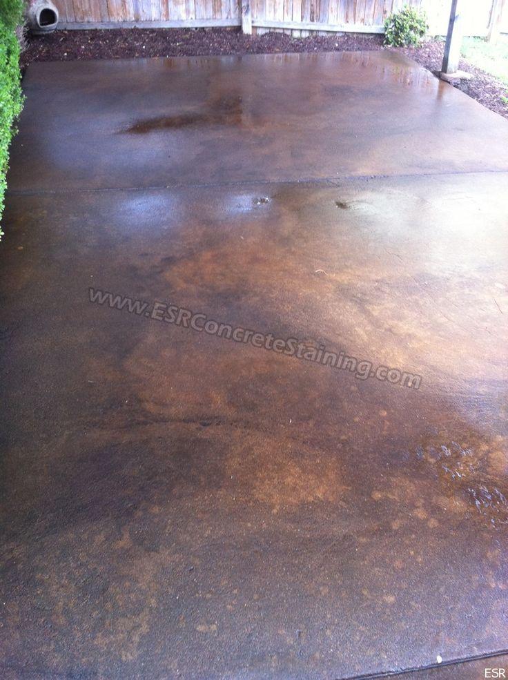 Acid Stain Concrete | Acid Stained Patio U2013 Coppell, TX | ESR Concrete  Staining