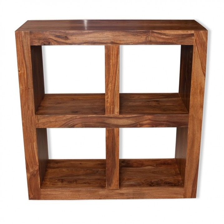 Dazzing Cube Shelving Unit Design With Solid Sheesham Wood In Brown