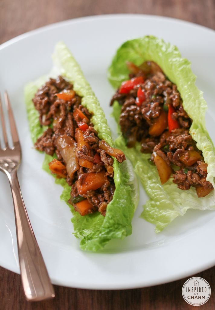 Healthy LowCarb Chili Beef Wraps