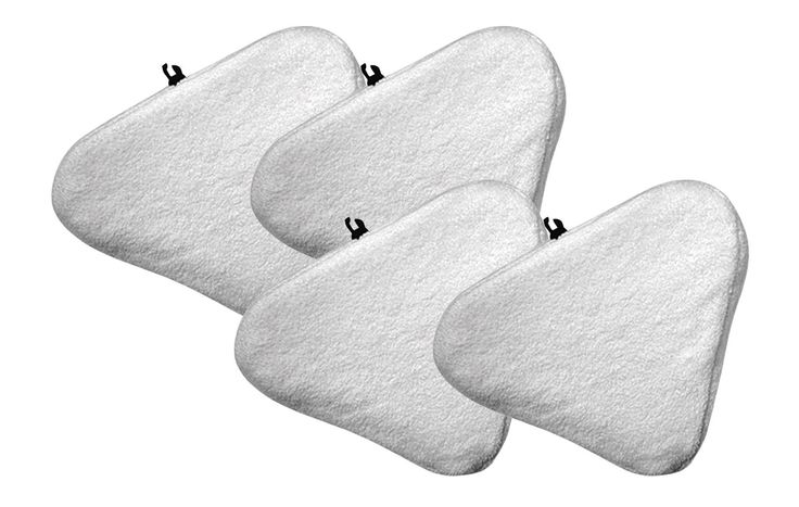 4 Bissell Steam Mop Pads Fit Select Hard Surface Cleaner 94E9T(A) | Part # 76B2A