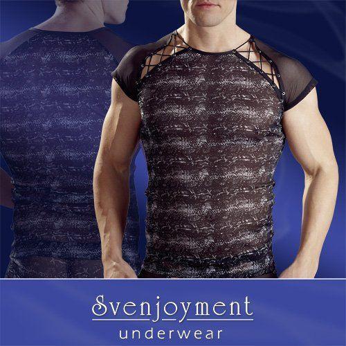 Miesten näyttävä paita on valmistettu powernet kankaasta ja siinä on liskoprinttaus sekä seksikkäät V-leikkaukset olkapäissä viimeisteltynä nyörityksellä.Väri: Musta / HarmaaMateriaali: 90% polyamide, 10% elastane.