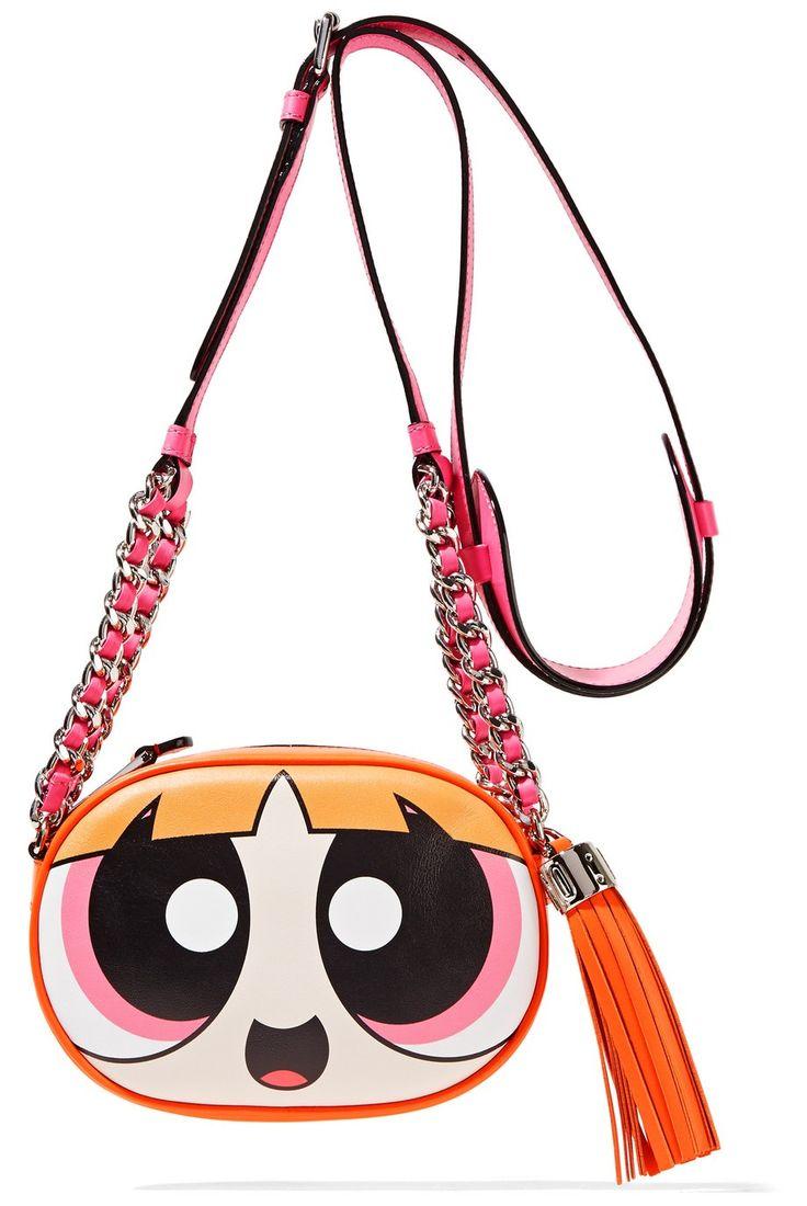 Moschino Powerpuff Girls Blossom Women's Shoulder Crossbody Leather Bag │Represented by Chiara Ferragni, Paris Hilton