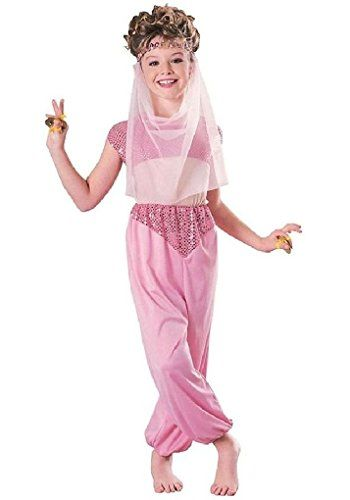 Ponce Girls Pink Harem Costume Bollywood Genie Girls Kids Belly Dancer