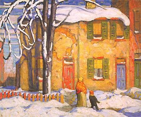 Lawrence Harris .. Group of Seven Old House Toronto