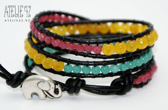 Плетеные браслеты со шнурком и бусинами + мастер класс | Сообщество Handmade на Your Vision