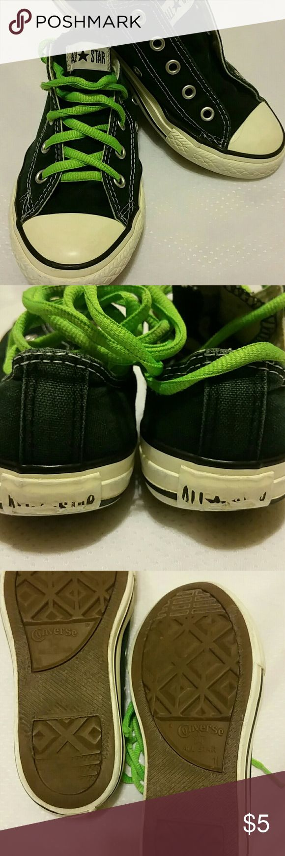 Kids Converse shoes. Used. Washed and Clean. Size 1 and a half. Shoes Sneakers