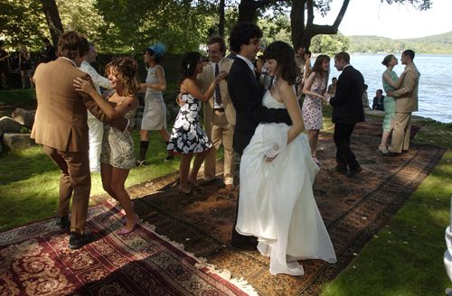 Rugs on grass = dance floor Stone Fox Bride | weddings