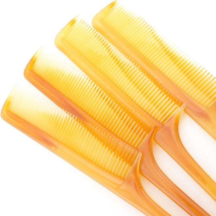 3 pcs alta calidad natural no ruptura del tendón de carne de peine del pelo cepillos de pelo de belleza salud antiestático peines de cola de rata z3