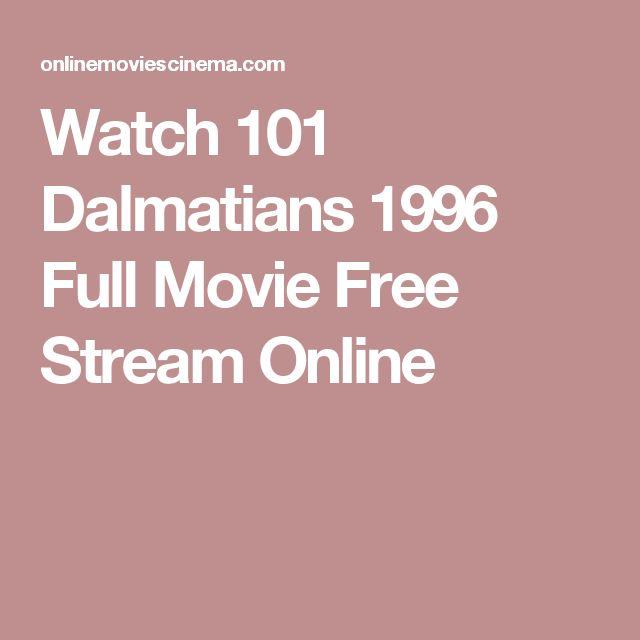Watch 101 Dalmatians 1996 Full Movie Free Stream Online