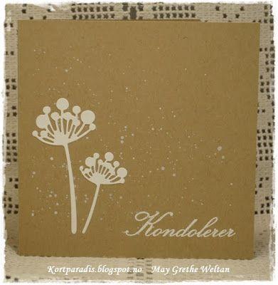 Kortparadis Kortpardis.blogsp... Kort Card Håndlaget Handmade Homemade Scrapping Kortscrapping NorthStarDesign NSD stempel stempler stamp kondolanse condolanse sorg