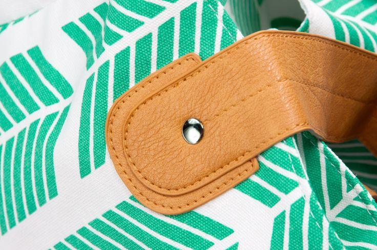 Teal Arrows Weekender Tote Bag- by Austin brand- White Elm boutique
