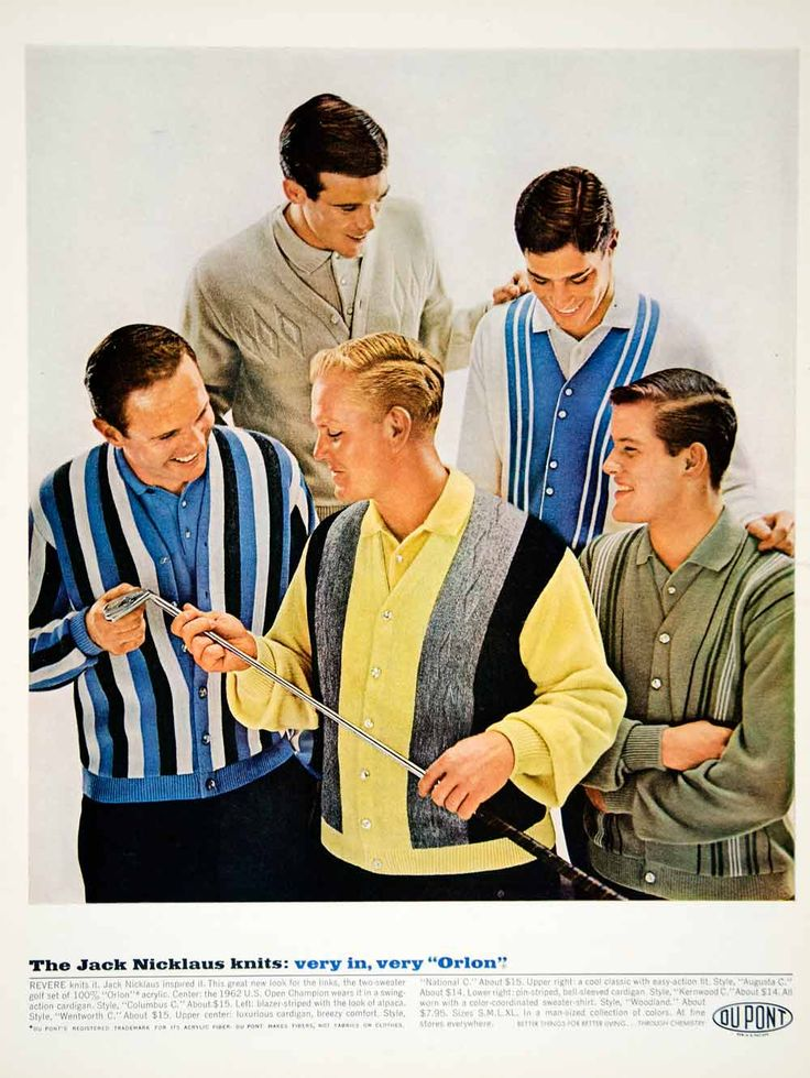1963 ad vintage nicklaus golf sweater knit