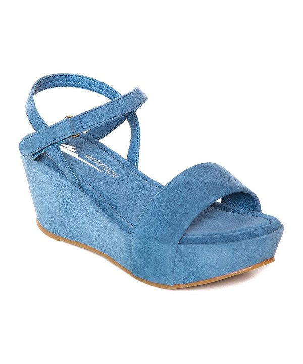 Look at this Antelope Jeans Suede Sandal on #zulily today!