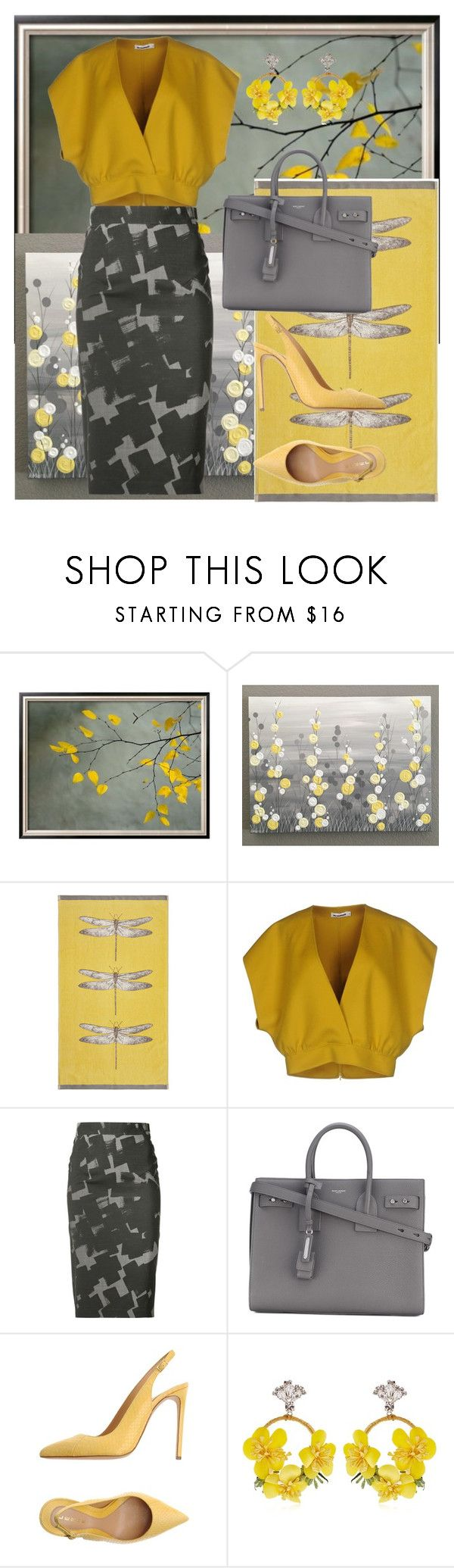 """When Mr. Grey meet Ms. Yellow"" by ayiarundhati ❤ liked on Polyvore featuring HARLEQUIN, Jil Sander, Vivienne Westwood Red Label, Yves Saint Laurent, Lerre and VANINA"