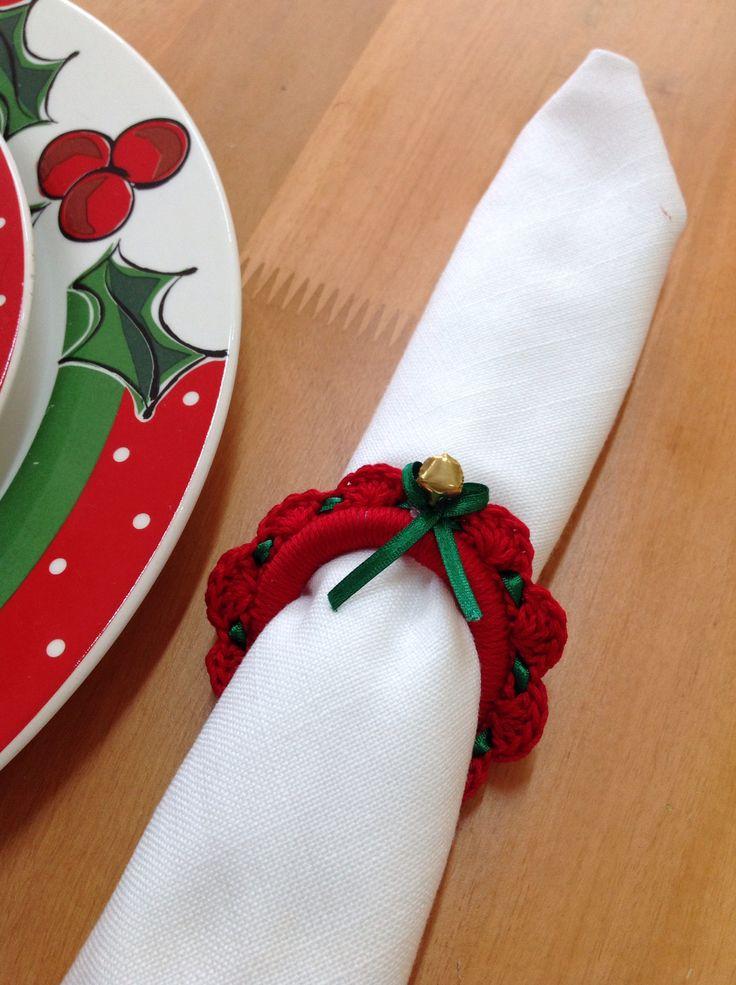 Servilleteros en crochet, lindo detalle para regalar en navidad!