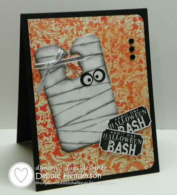 By Debbie Henderson - Dynamic Duos: DD#75-Deep Orange and Black with the OPTION of #Halloween #stampinup