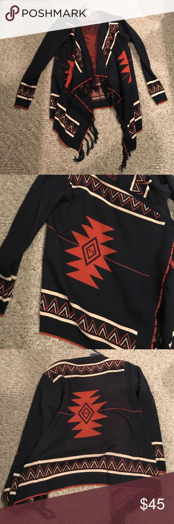 Pink owl large tribal sweater///really thick Only worn a couple times pink owl Sweaters Cardigans