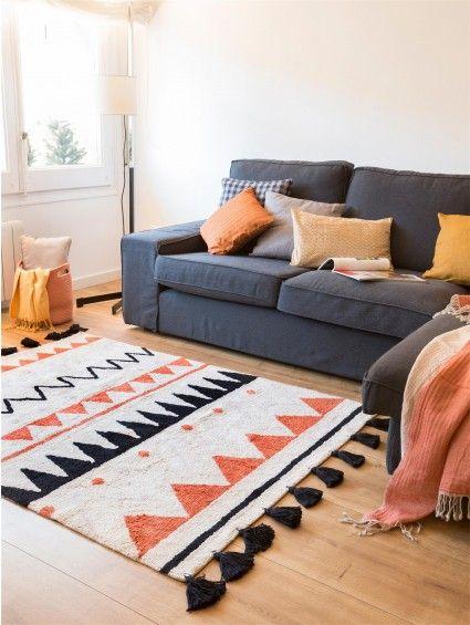 Kinderteppich Azteca Beige/Orange #benuta #teppich #chevron #interior #rug
