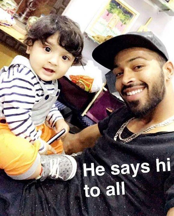 Hardik Pandya clicks a selfie with his nephew For more cricket fun click: http://ift.tt/2gY9BIZ - http://ift.tt/1ZZ3e4d