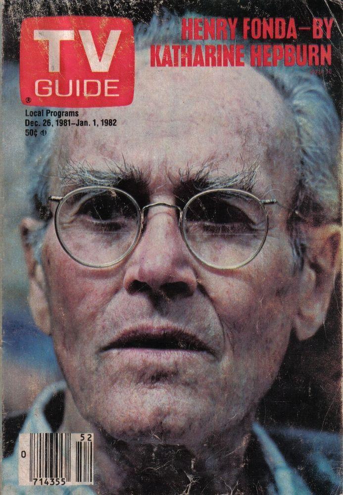 Vintage TV Guide December 26 1981 Henry Fonda Katharine Hepburn Fantasy Island | eBay