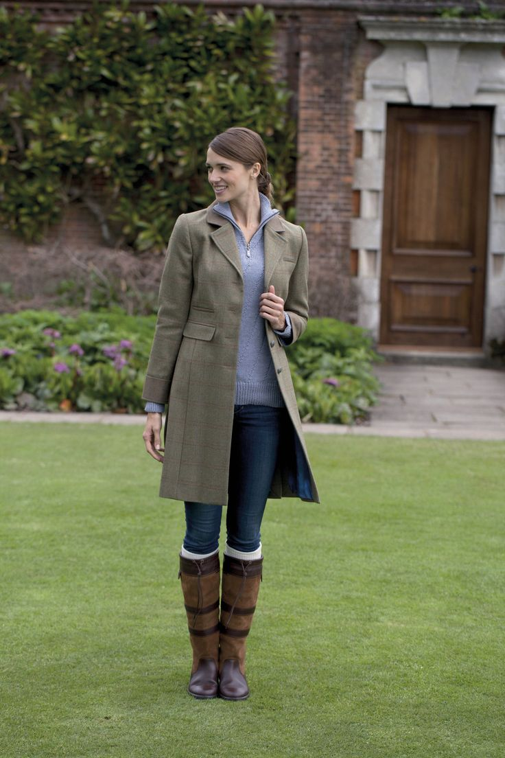 Dubarry Blackthorn 3/4 Length Tweed Jacket Connacht Oak 16 ...