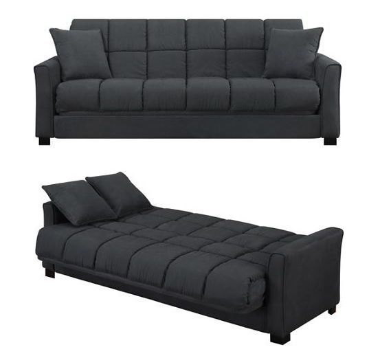 Best 25 futon couch ideas on pinterest this is the end futon cushions and futons - Bank cabriolet linnen ...