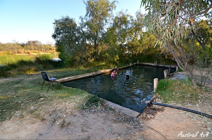 Cooling off at Mungerannie along the Birdsville Track, South Australia.