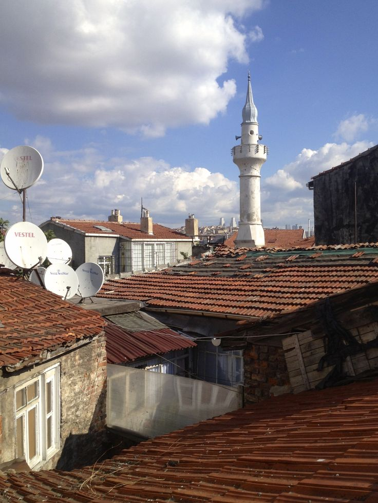 View from the roof of Cibali Arthouse, preparing for the Byzantine Istanbul Walk Part 2