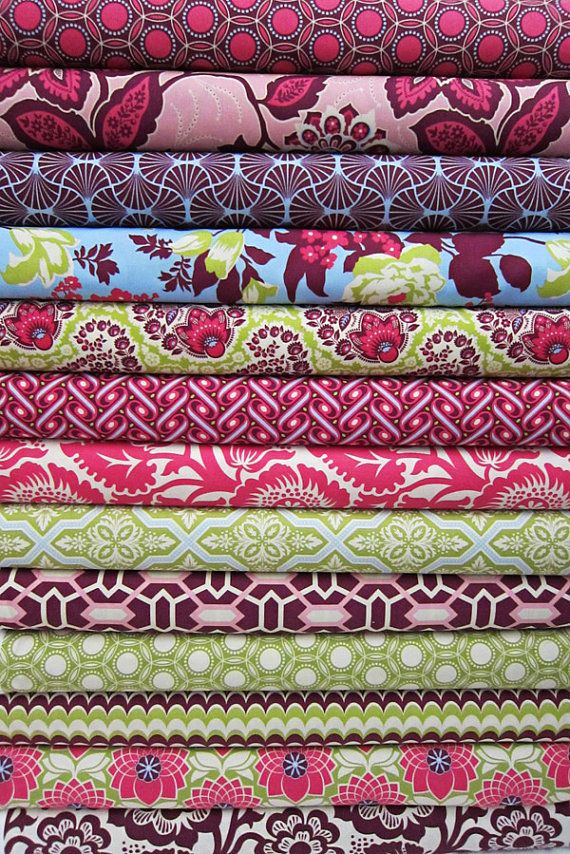 Joel Dewberry, Heirloom Sapphire Collection---- For the puppy's collar, cover for her bed, leash, and a quilt for me :)
