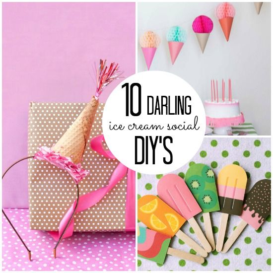10 Darling Ice Cream Social DIY's - by Jen at tatertotsandjello.com for babble.com