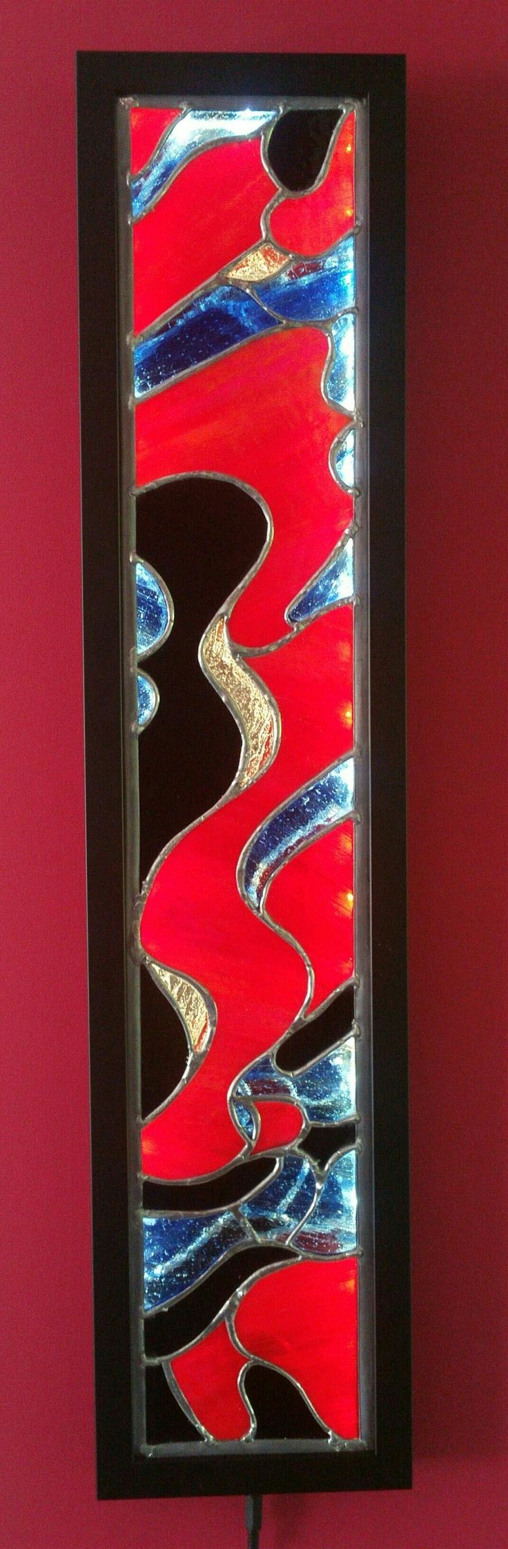 Slice of a Galaxy - Outer Rim.  Stained Glass Artwork & Lightbox created by #dolittleglass