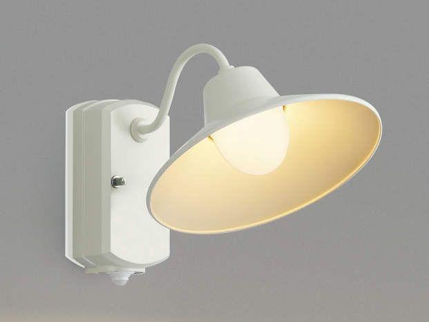 おしゃれなLEDポーチライト。KOIZUMI コイズミ照明 AU42250L LED照明 屋外用 ブラケットライト エクステリアライト アウトドアポーチライト アウトドアライト 門柱灯 外部照明 人感センサー付ポーチ灯 ホワイト 白