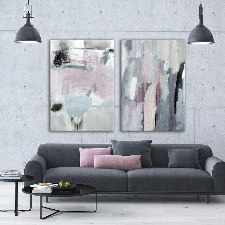 Employing a rich range of neutral tones, this understated pair of paintings creates a lush, mutable accent in your living room, bedroom or office.
