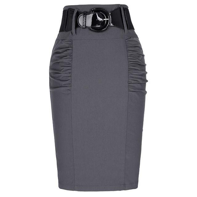 2016 Nouveau Sexy Jupes Crayon Femmes D'affaires Travail Bureau Jupe avec Ceinture Taille Haute Élastique Casual Moulante Slim Fit Dames jupes