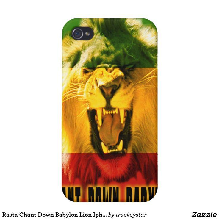 Rasta Chant Down Babylon Lion Iphone 4 Case