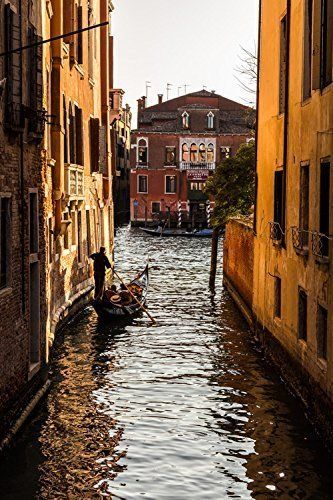 """Great Way To End The Day - 8"""" x 10"""" to 30"""" x 40"""" ready to hang canvas print. Canvas print of an image shot in Venice, Italy near the end of a beautiful spring day."""