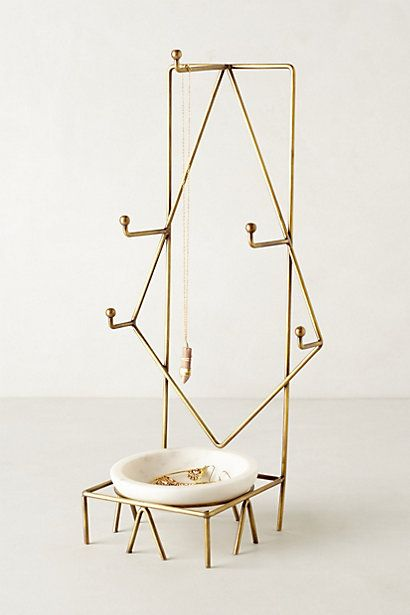 Radial Jewelry Stand - anthropologie.com $68 **love this, so simple and elegant.  All fits in with my monochrome classic black-and-white theme for the bathroom :)